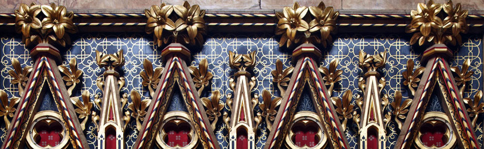 Gilded filials in the Sanctuary